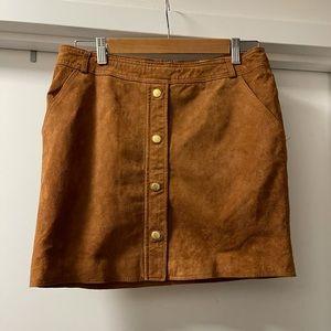 Tan suede mini skirt /small